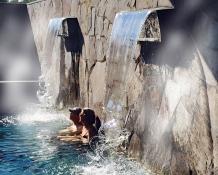 waterfall jacuzzi